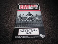 Bristol City v Swindon Town, 1971/72